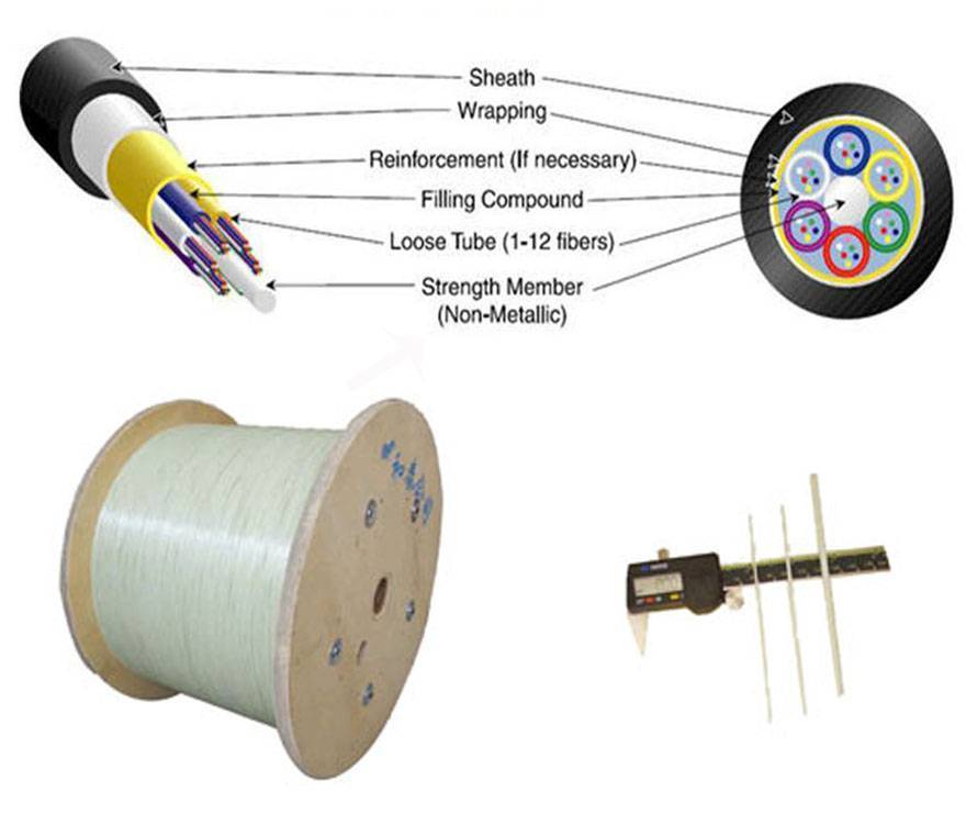 FRP rod as central strength member for Optic Fiber Cable