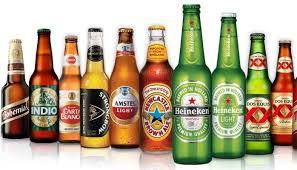 Guinness, Stella Artois, Becks, Carlsberg, Heineken, Estrella and Other Beers