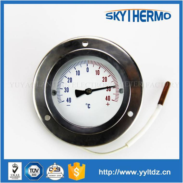 industrial thermometer 600 remote reading SS capillary thermometer