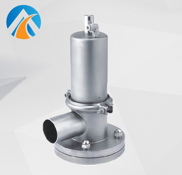 Sanitary stainless steel tank bottom valve