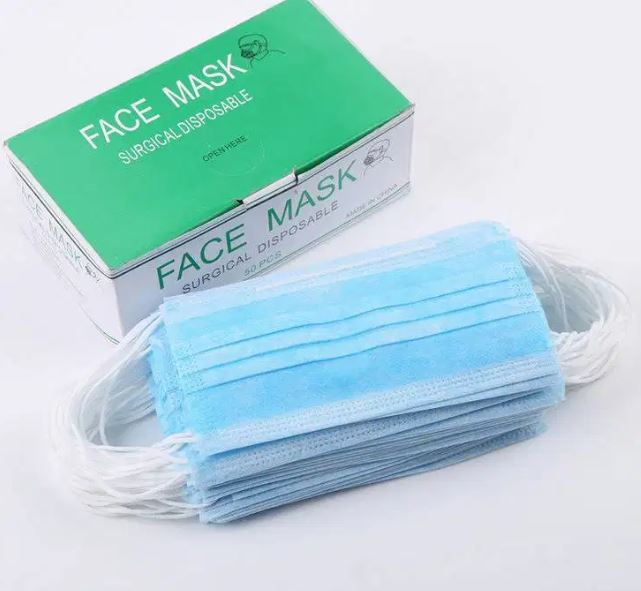 3-Ply Disposable Face Mask (Surgical, Medical, Dental, Industrial)