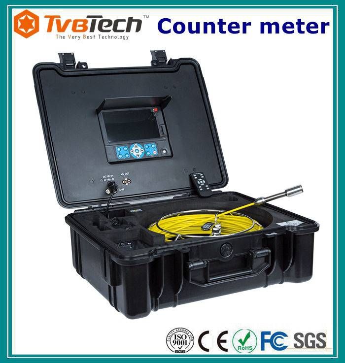 drain and sewer diagnostic equipment cctv camera with 512hz sonde built inside 40m cable