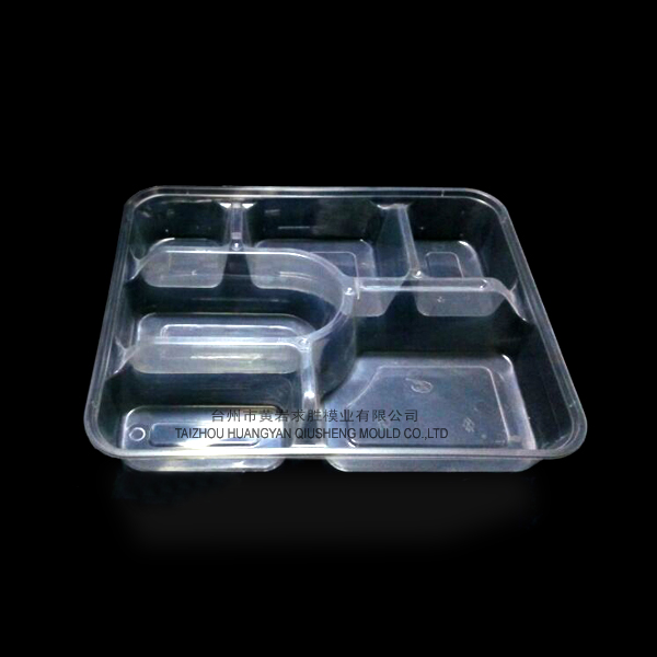 Plastic disposable 6 grid snack boxes container plastic mould