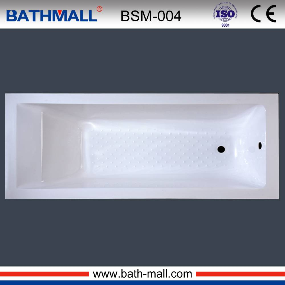 Japanese style square drop in acrylic bathtub for export