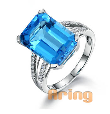 Wholesale 18k Gold Jewelry Topaz rings solid gold jewelry