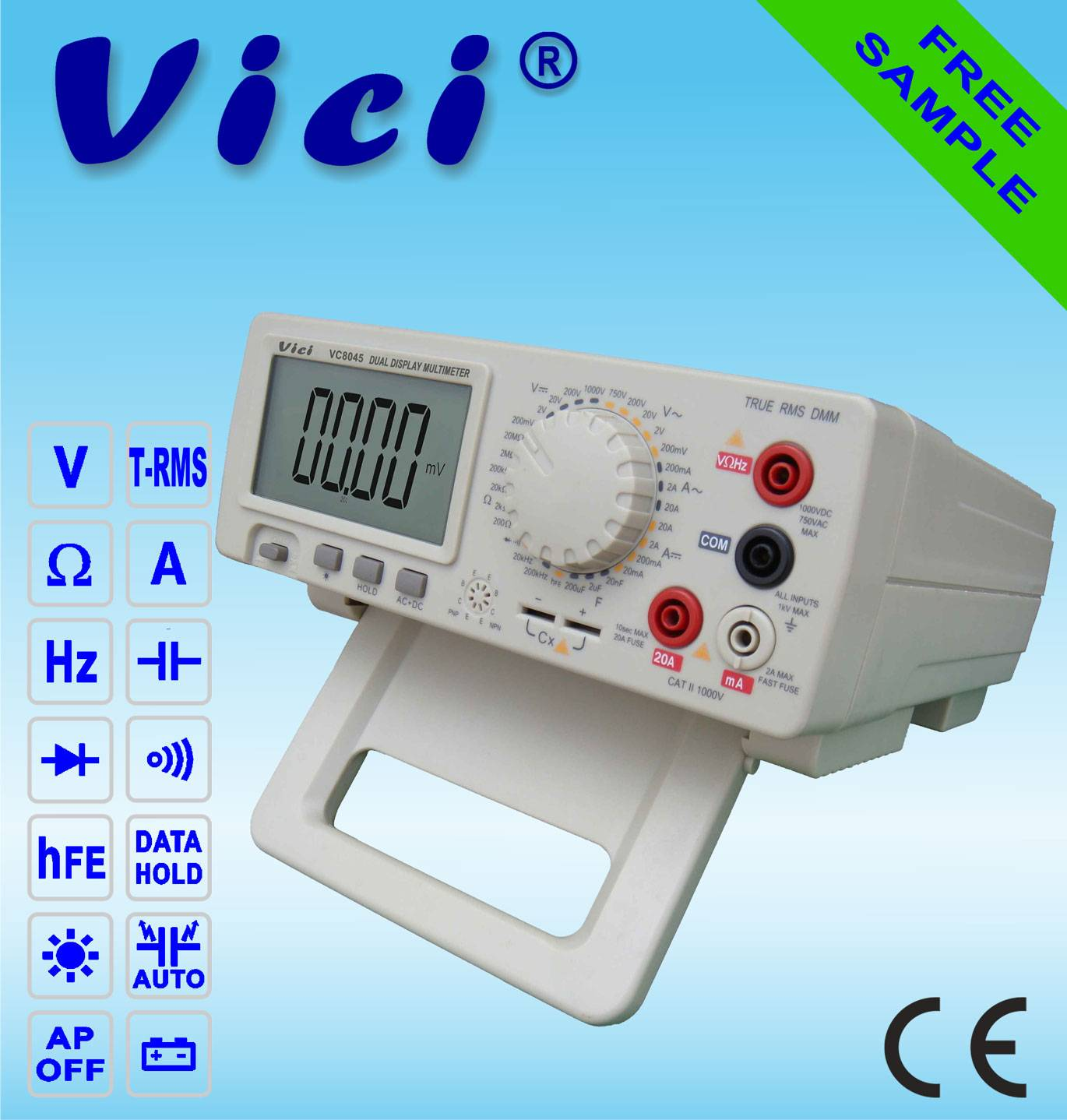 VC8045  4 1/2 Bench type digital multimeter