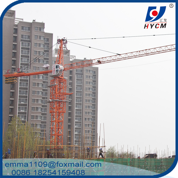 Small Tower Crane TC4810 4T 48m Boom Top Slewing External Climbing Type