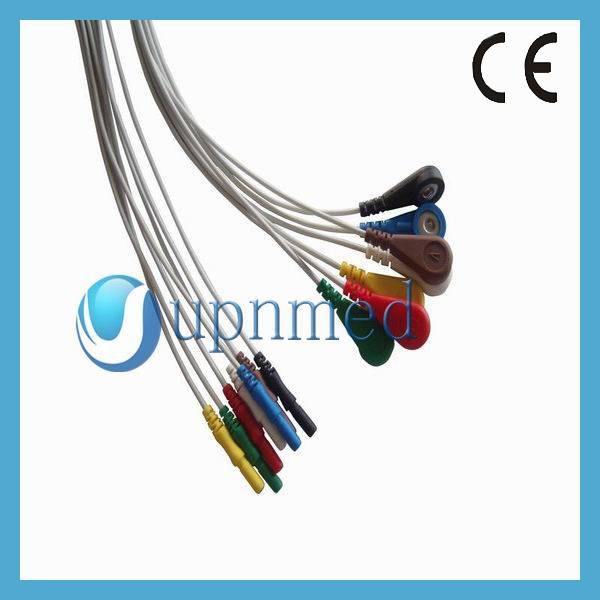 Holter 7 lead ecg lead wires,snap,U301-13A7SI