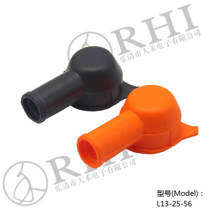 Motorcycle soft rubber cable battery terminal covers