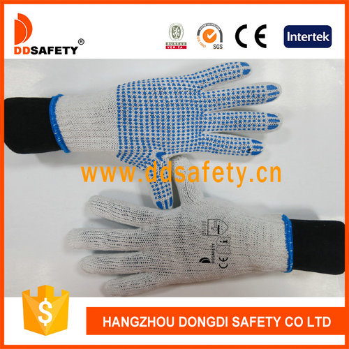 Knitted with blue glove-DKP110