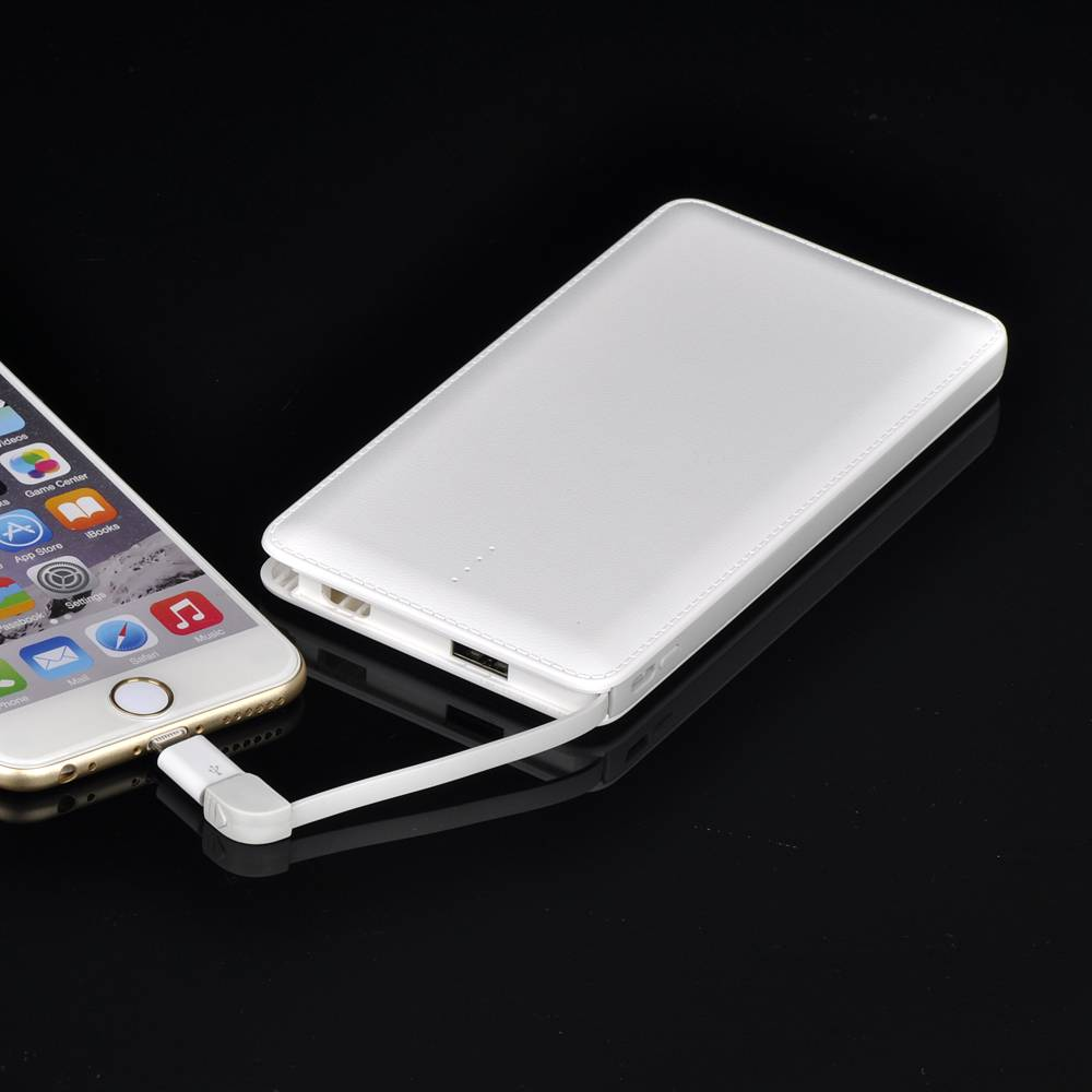 Slim Cable Portable Battery Charger 10000mAh External Power Bank  For Apple iPhone 6Splus, 6S, 6plus