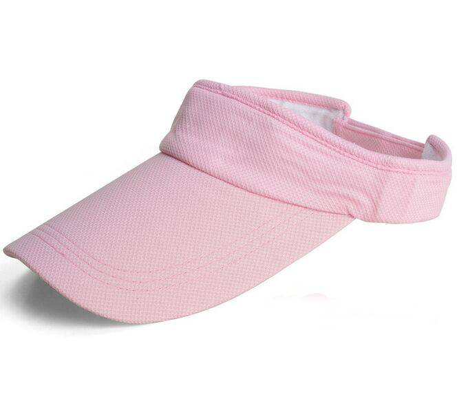 100% Cotton Embroidery Sun Visor Fast Dry for Outdoor