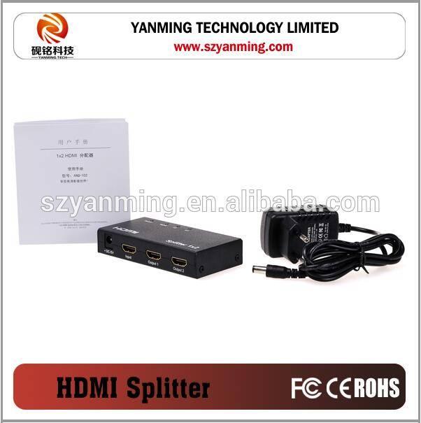 hdmi splitter 1x2 1 input 2 output