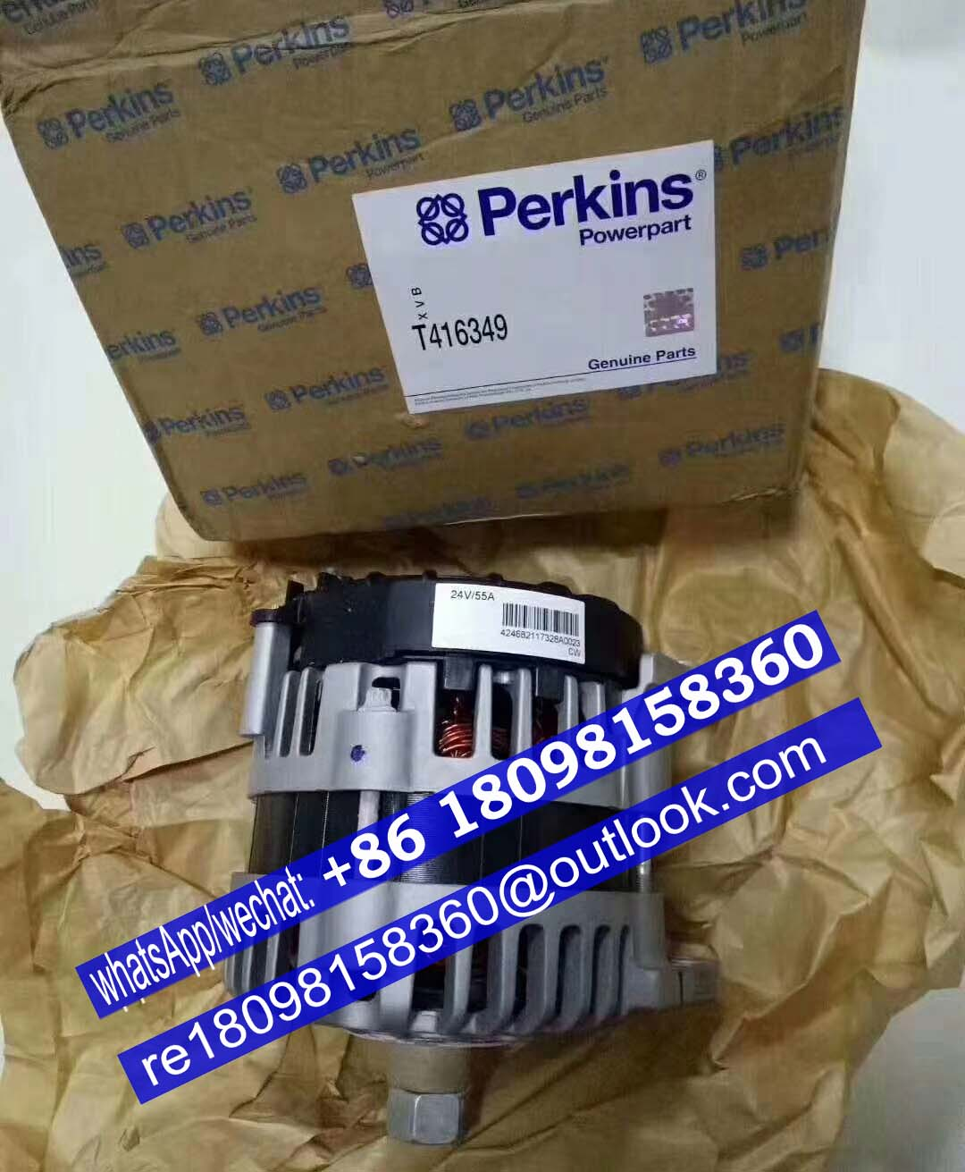 2871A306 T416349 T416234 perkins Alternator for 1106 engine parts
