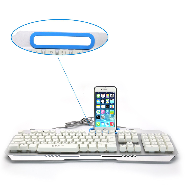 Computer New Luminous Membrane Gaming Keyboard with phone holder