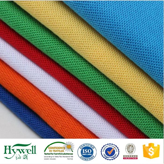 Polyester Cotton Pique Fabric for Men's Polo Shirt