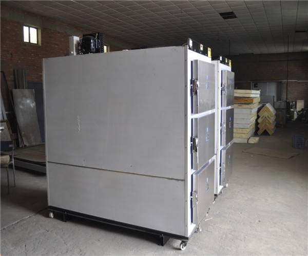 mortuary freezer with stainless steel