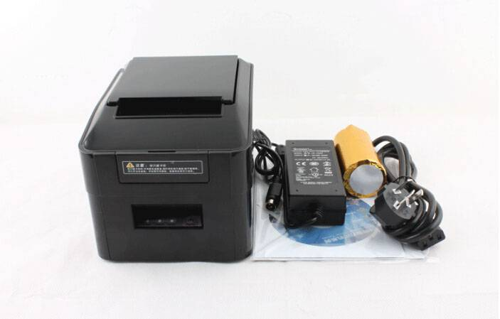 80mm thermal receipt printer with auto cutter and Ethernet port for restaurants