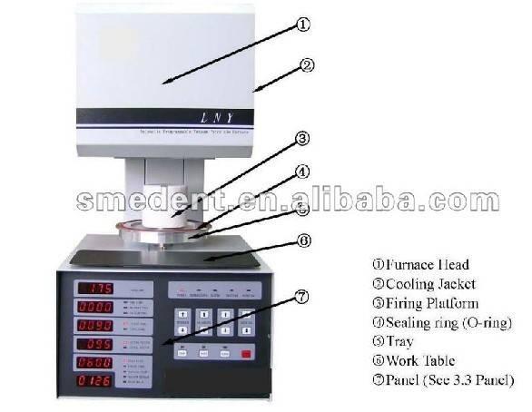 Dental Lab Machine Vacuum Porcelain Furnace (CE certified)