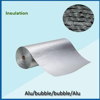 aluminum foil 2- layers bubble insulation