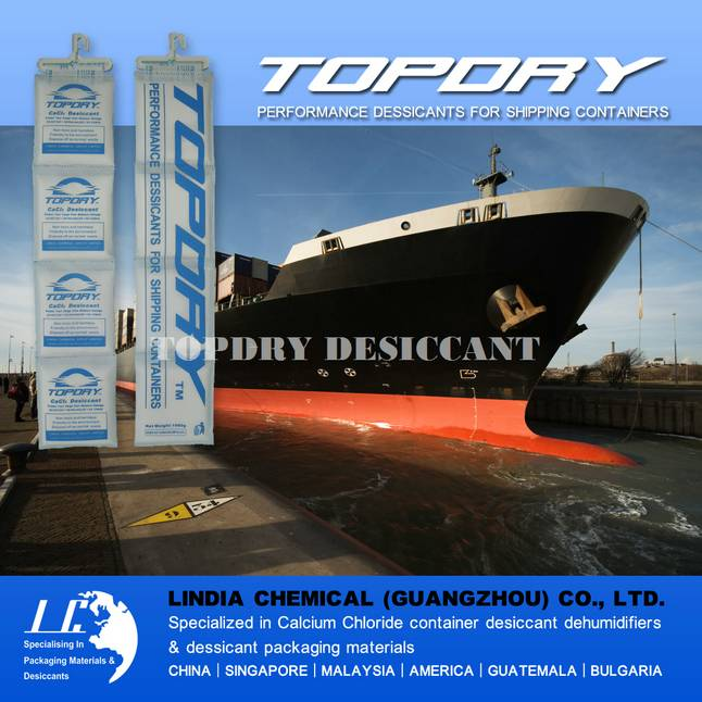 TOPDRY Desiccant for Shipping Container Package