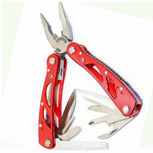 Multi tools Functional pliers aluminum handle Read Oxide with polyester sheath