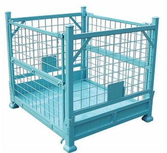 Steel cage stillage wire mesh container for storage