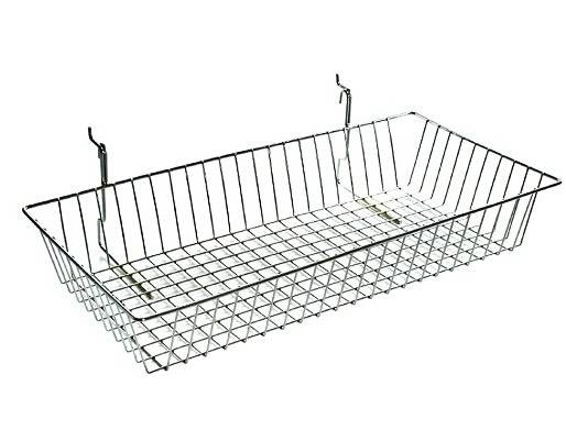 Chrome Large Gridwall Wire Basket