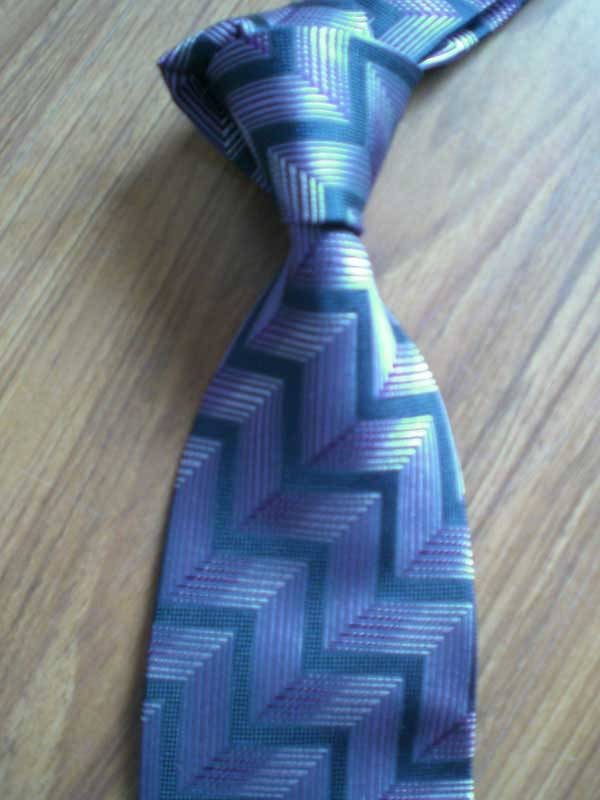 Blue Polyester Tie