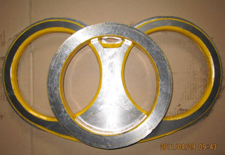Schwing Concrete Pump Spare Part Carbide and Hardfacing Spectacle Wear Plate and Cutting Ring