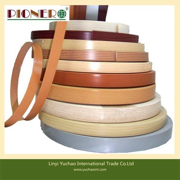 solid color and wood grain pvc edge banding