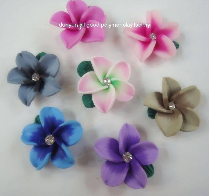 polymer clay flower jewelry hair accessory