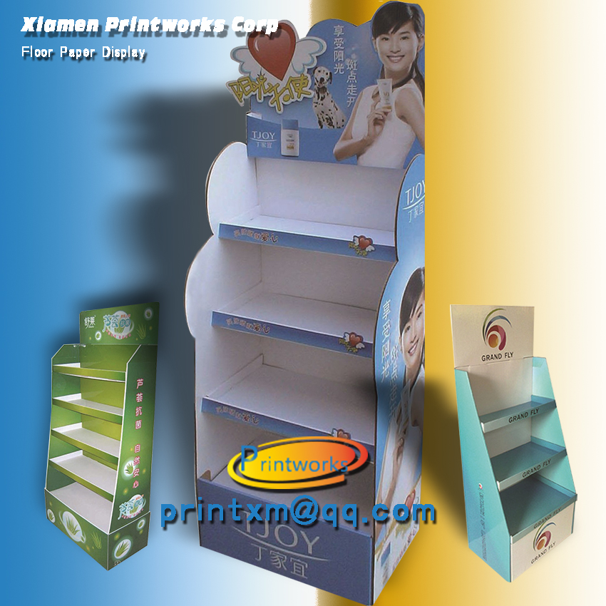 Custom Corrugated Paper Display Stand For Retail Store