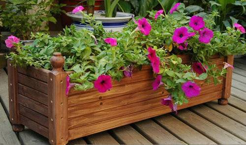 Wood Flower Boxes, Garden Planters