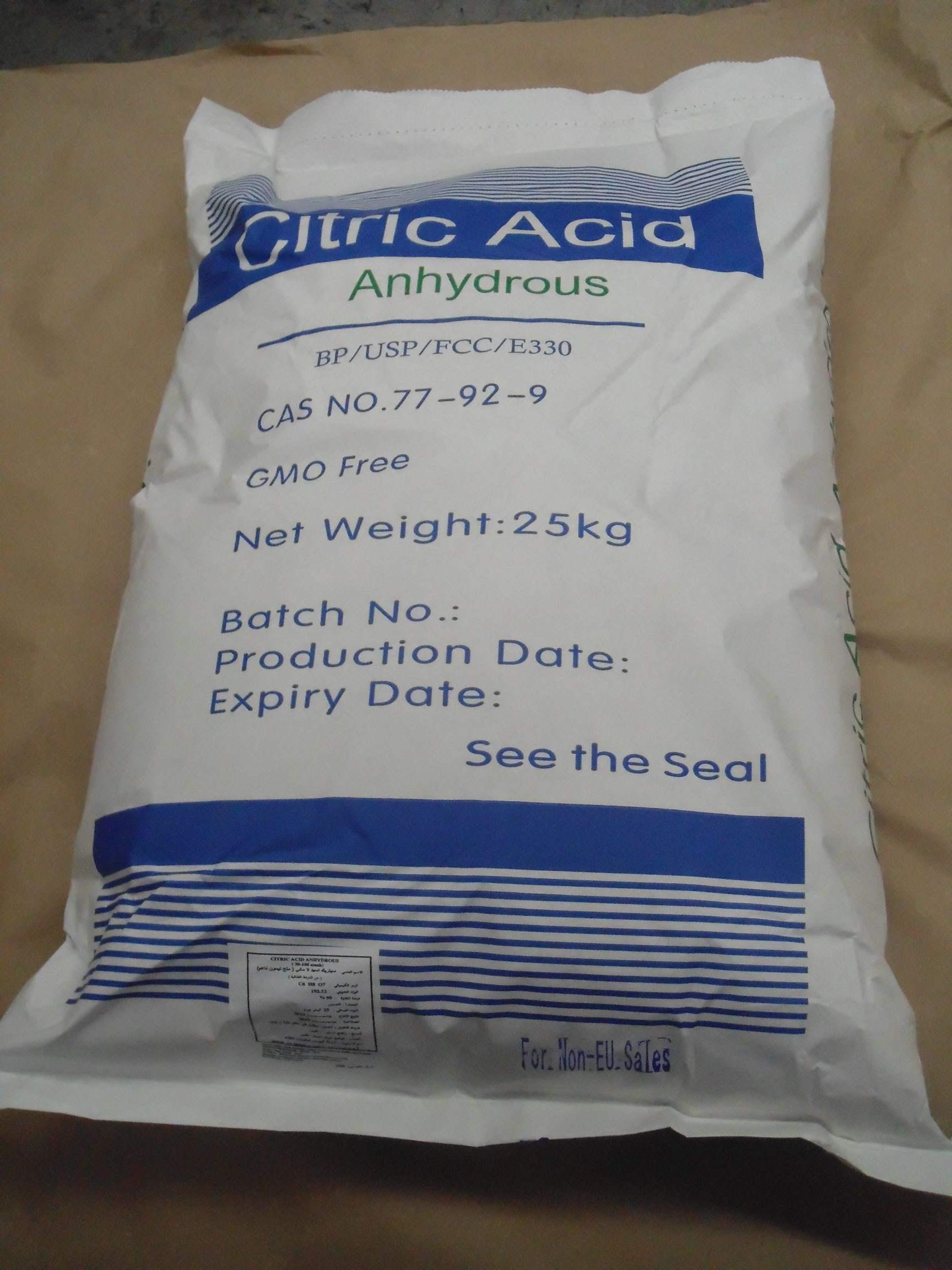Citric Acid Monohydrate CAS: 5949-29-1 Citric Acid Anhydrous CAS: 77-92-9