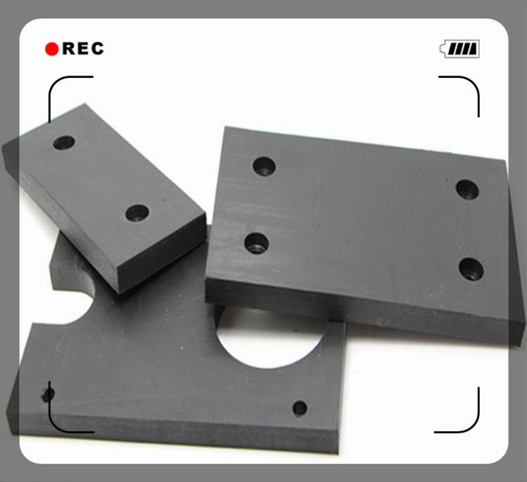 Rubber damping blocks