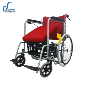 device of healthcare, assistance to stand and sit, attached to the wheelchair