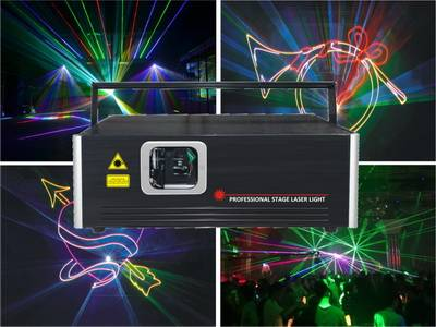 High brightness 2w rgb animation laser lighting