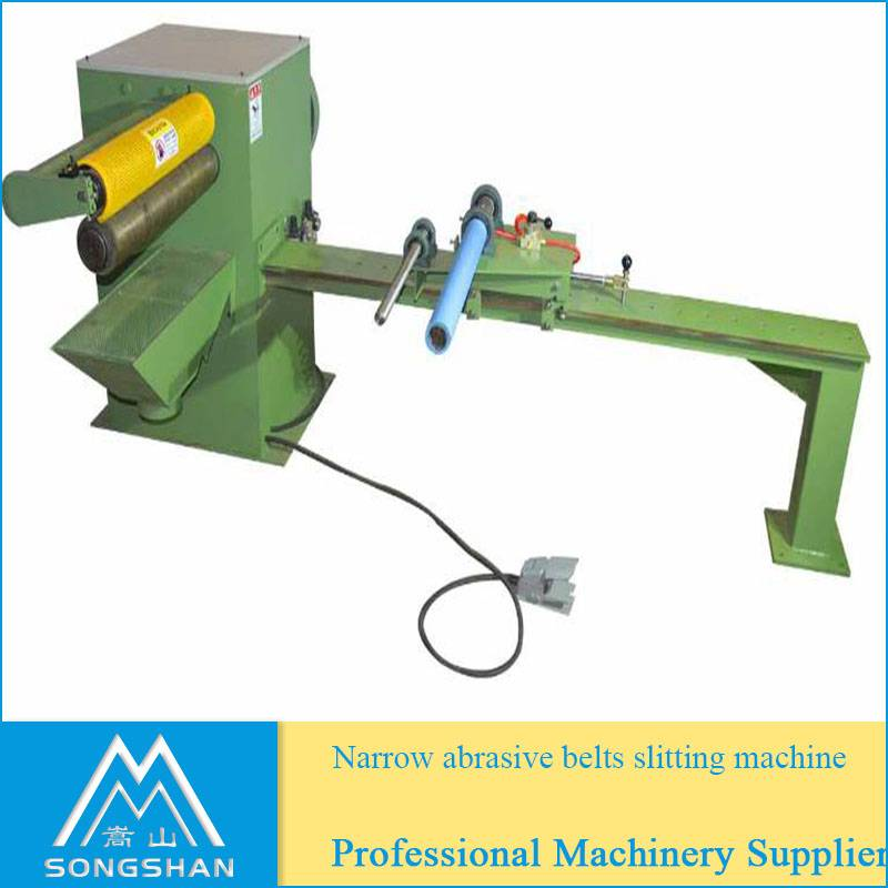 Abrasive belt slitting machine sanding belt cutting machine