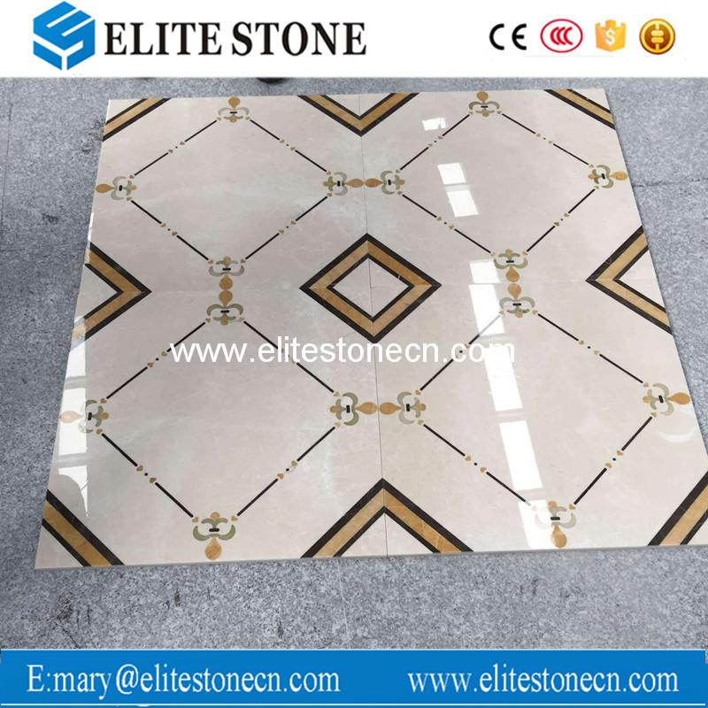 Beautiful marble waterjet for floor waterjet pattern marble medallion