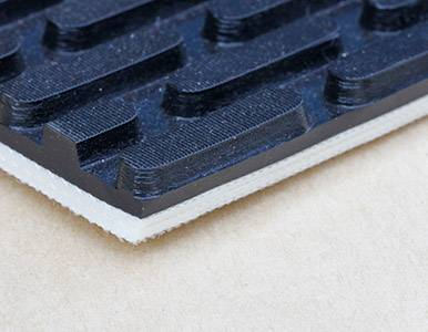Lianshun PVC Black Checker Conveyor Belt For Sander