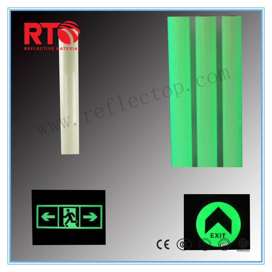 2-4hrs photoluminescent film for safety signs