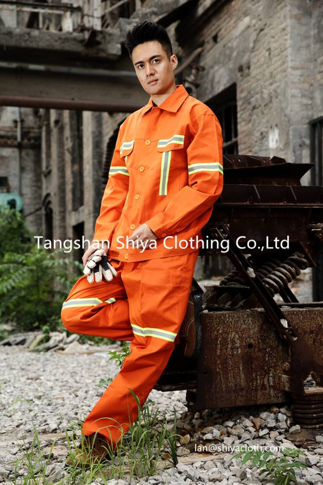 hi vis 2 pieces safety workwear uniform