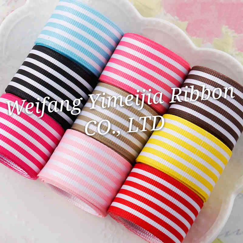 boutique stripe grosgrain ribbon