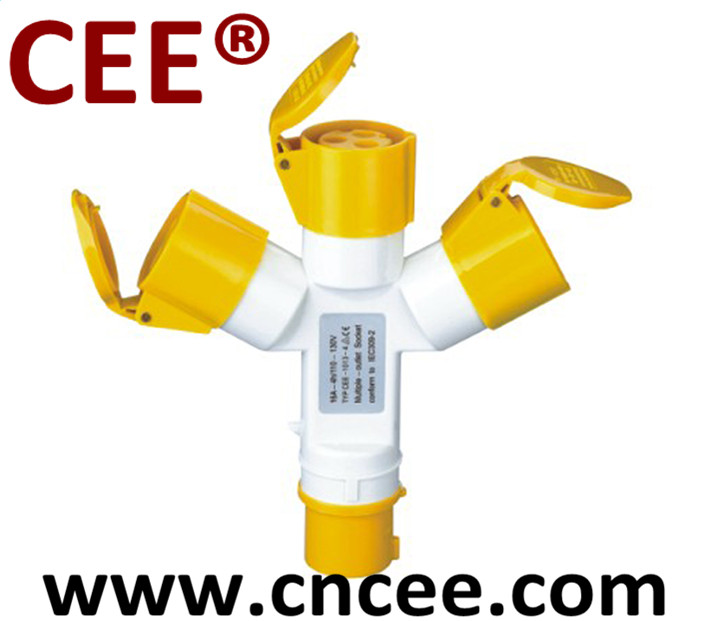 CEE Industrial multiple socket outlet, combination socket, plug and socket