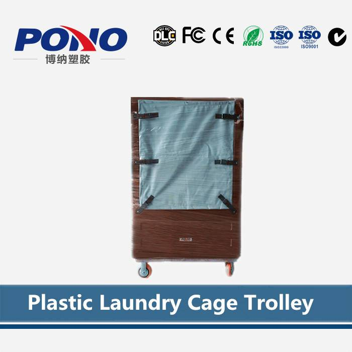 2016 hot-selling clothing industry used mobile plastic laundry cage trolley with panels, for cloth s