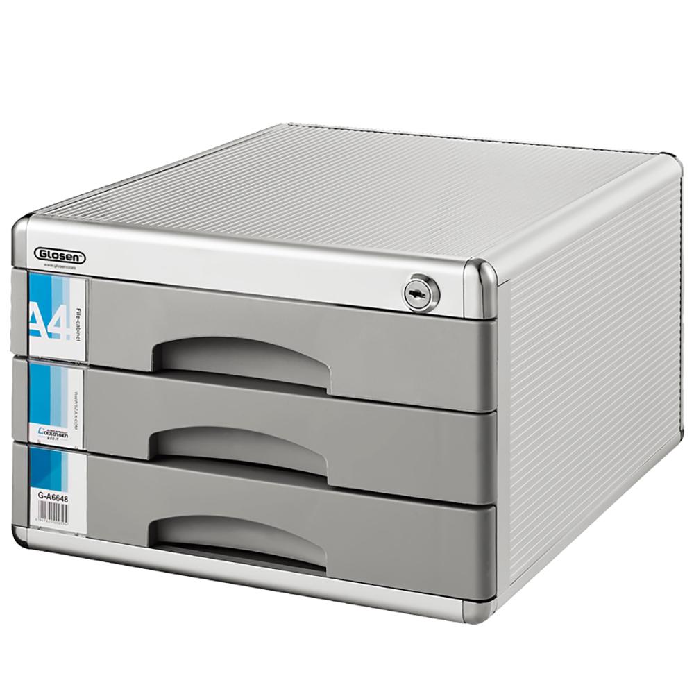 Glosen 3 Drawers Metal File Cabinet C6638