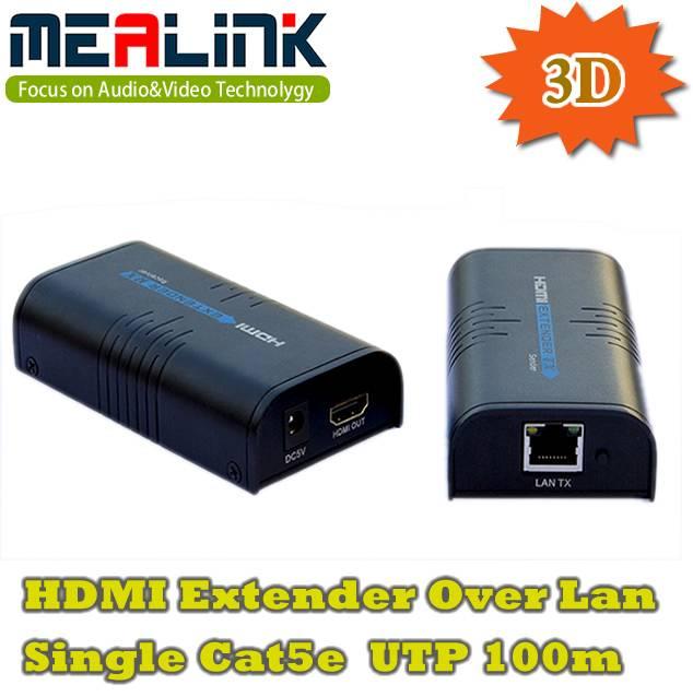 3D HDMI Extender Over LAN Single Cat5e UTP 100m