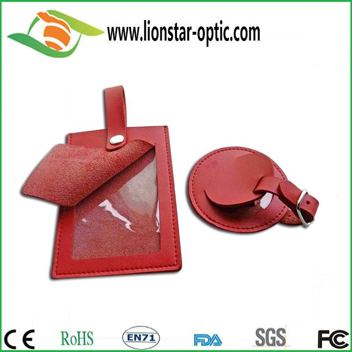 Leather luggage tag custom logo wholesale