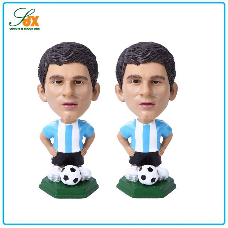 Hot Sell Custom Football Star Messi Bobble Heads